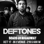 Совместный тур Deftones и Scars on Broadway